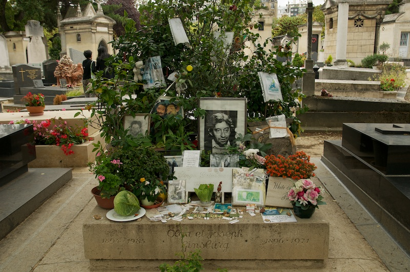 Serge Gainsbourg is buried with his parents